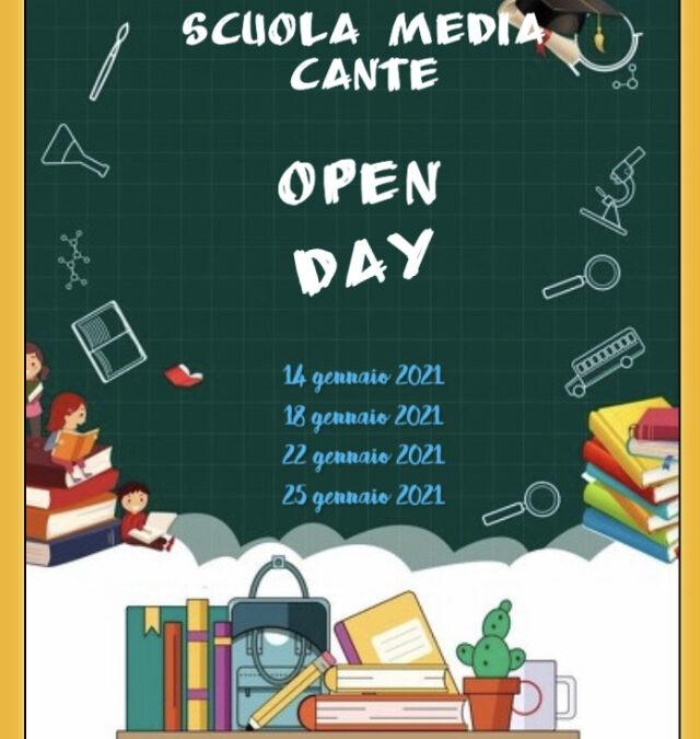 Open day Cante- LA NOSTRA SCUOLA, IL VOSTRO FUTURO-