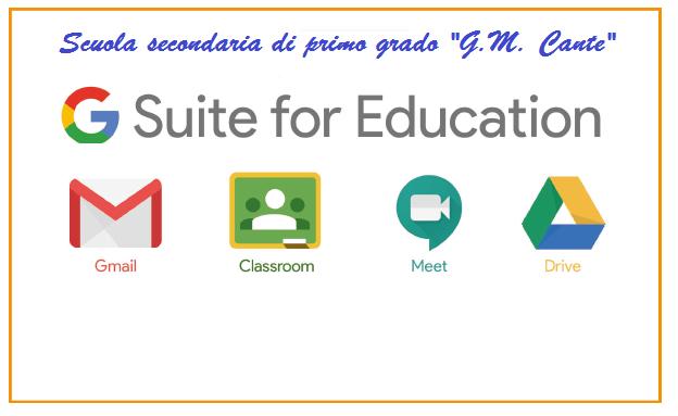 Attivazione piattaforma istituzionale G Suite for Education